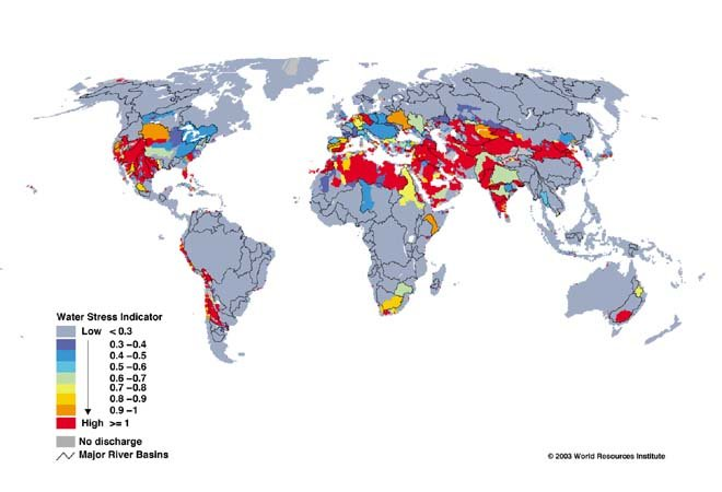 Stress hydrique global dans -> ACTUS waterscarcity20mapwri